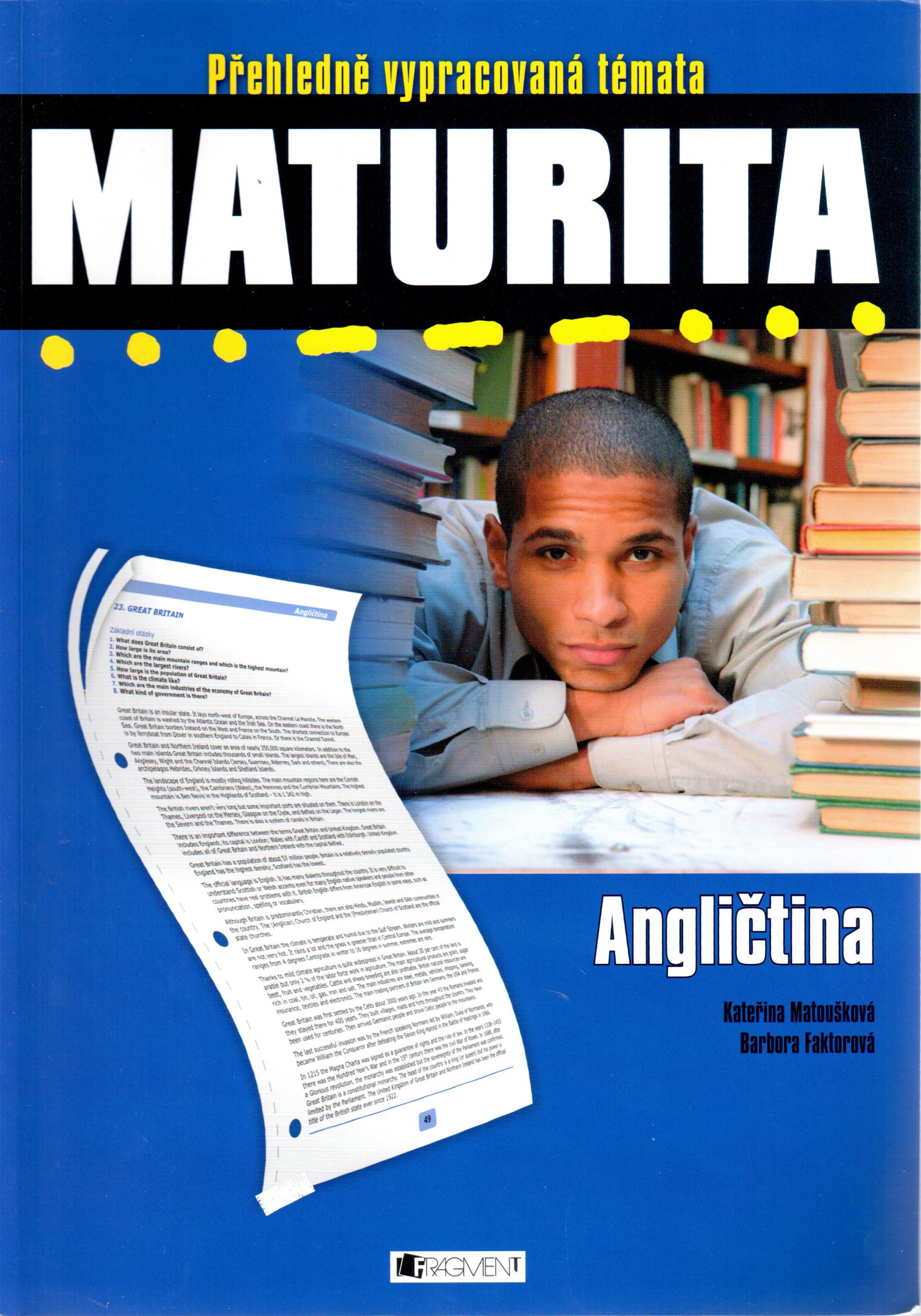 Maturita, přehledně vypracovaná témata: Angličtina - Náhled učebnice