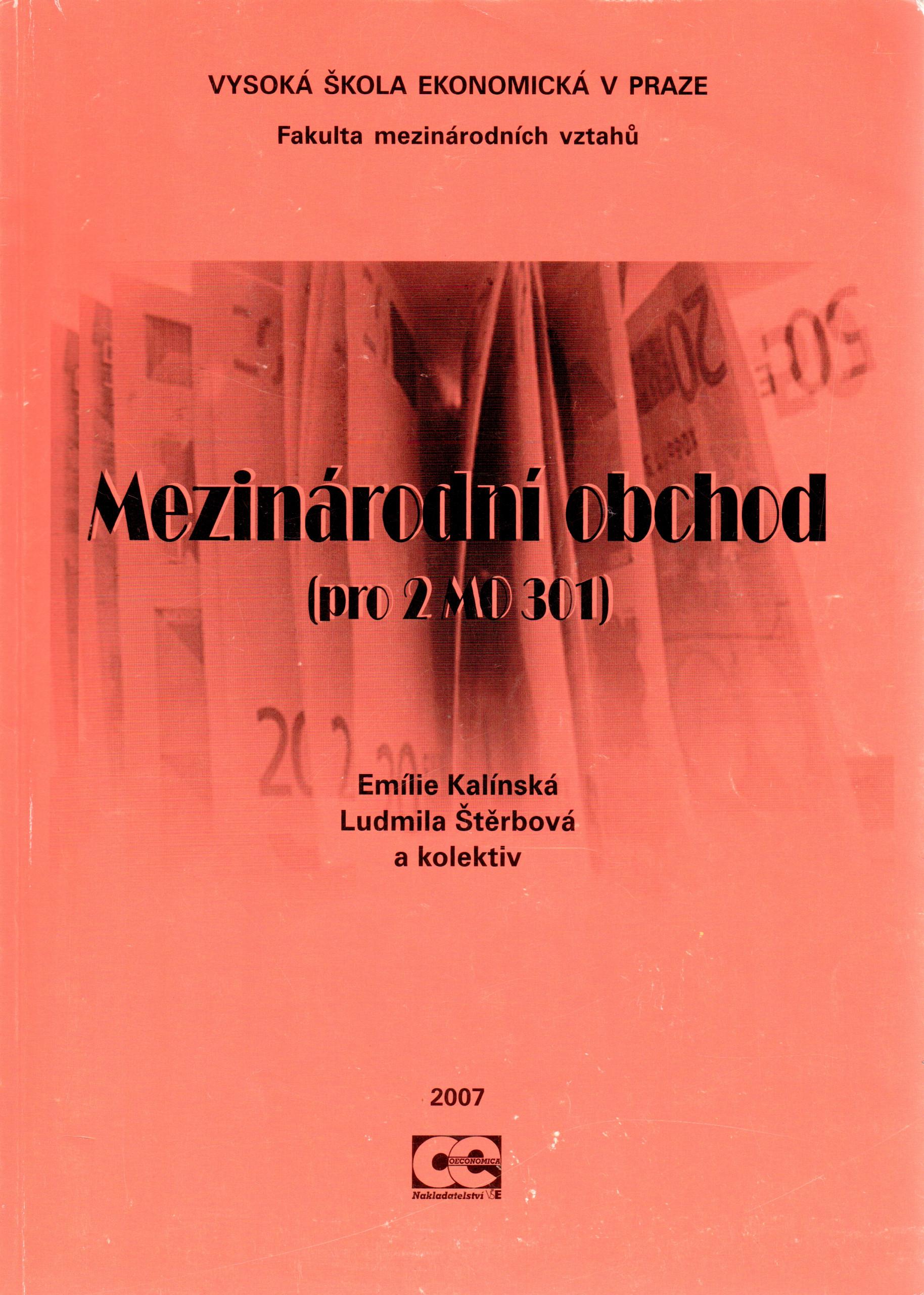 Mezinárodní obchod (pro 2MO 301) - Náhled učebnice