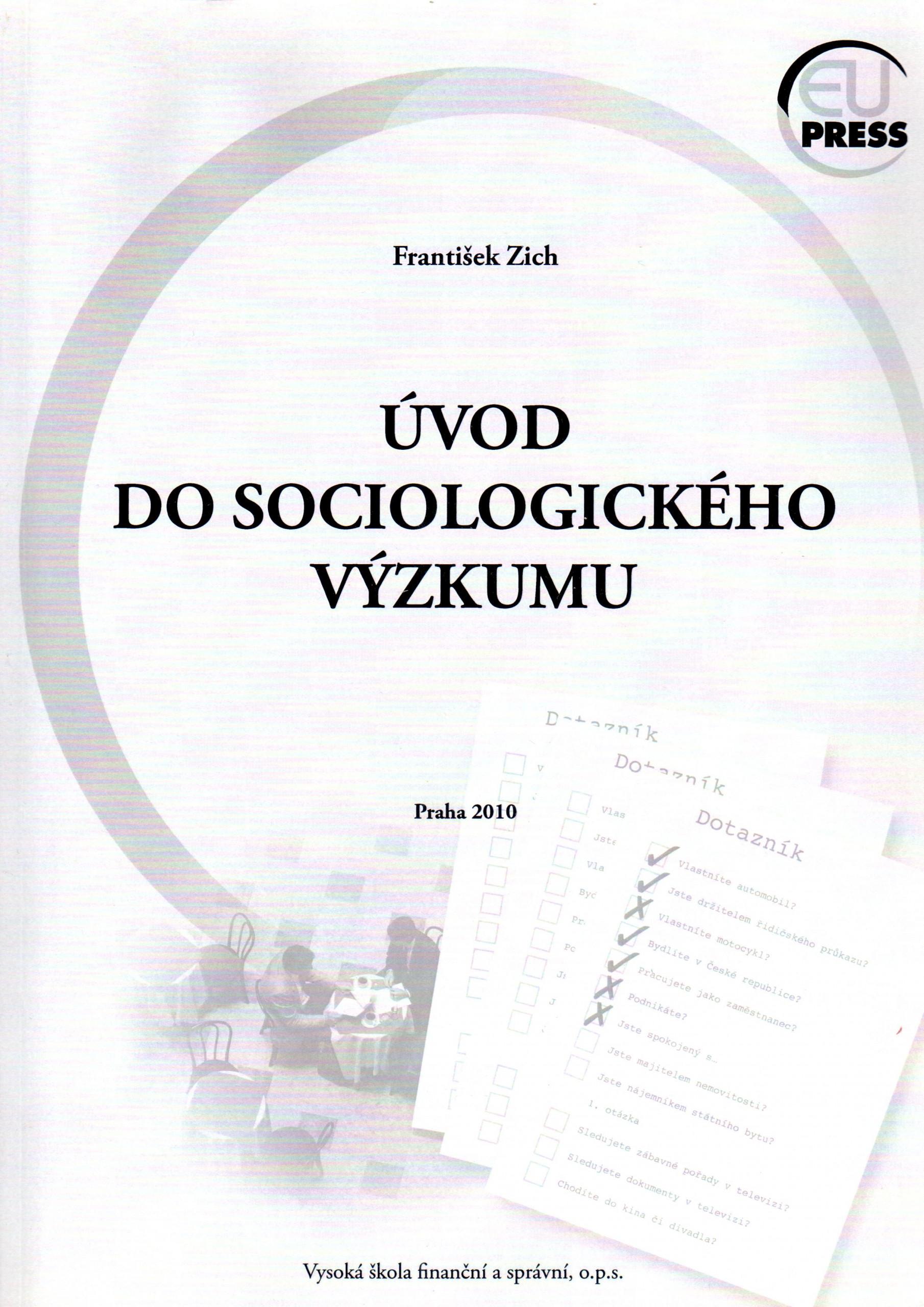 Úvod do sociologického výzkumu - Náhled učebnice