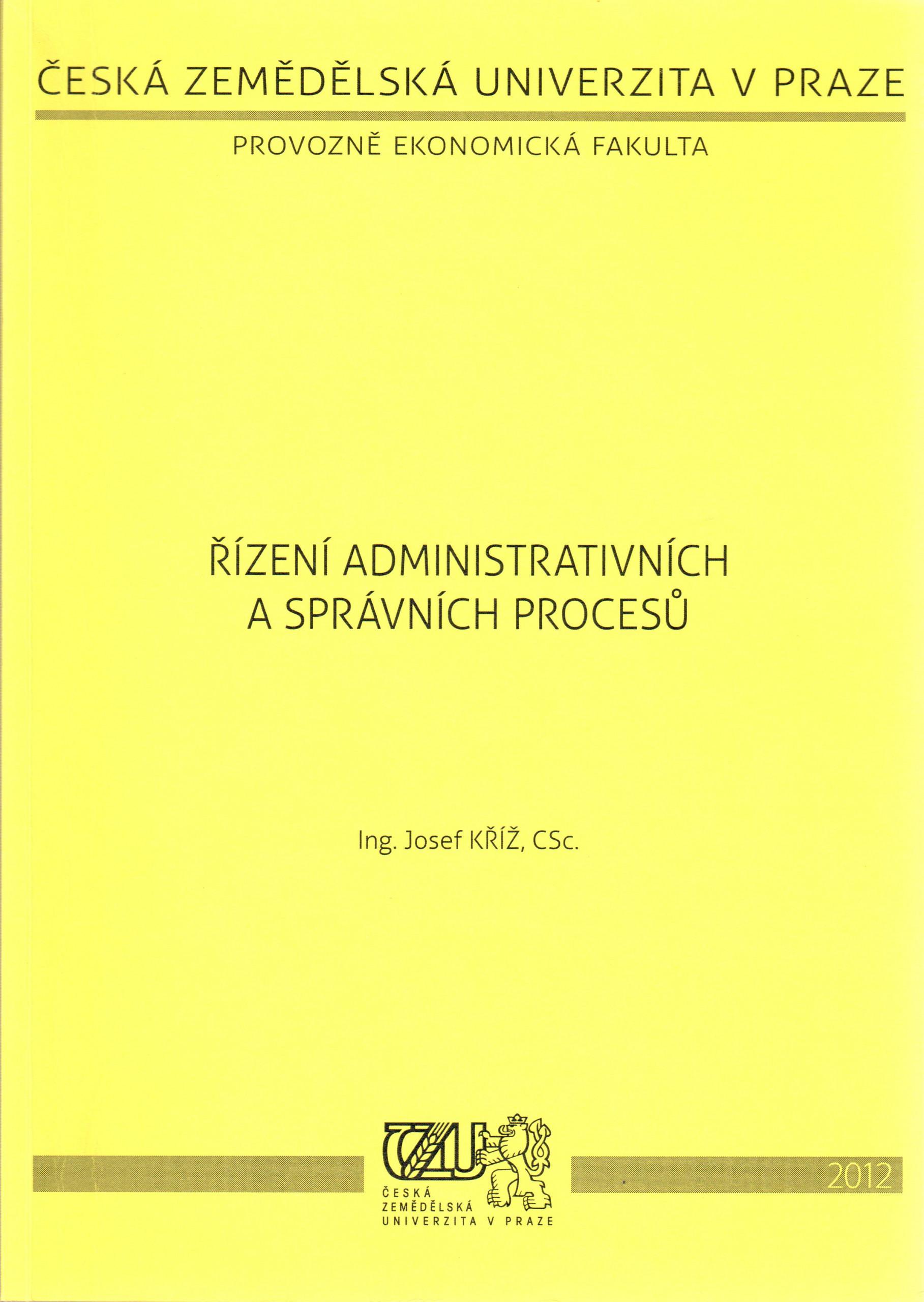Řízení administrativních a správních procesů - Náhled učebnice