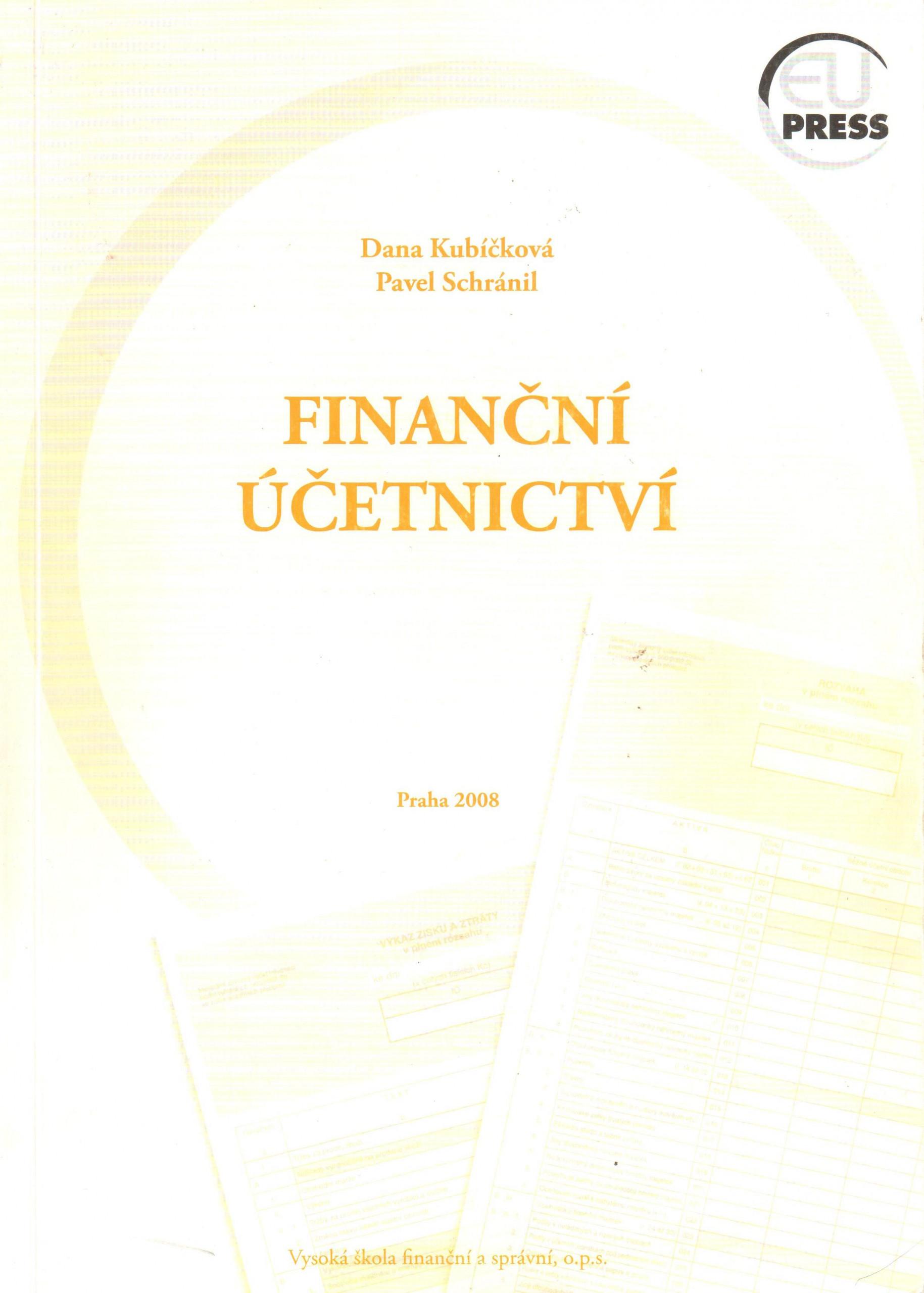 Finanční účetnictví - Náhled učebnice