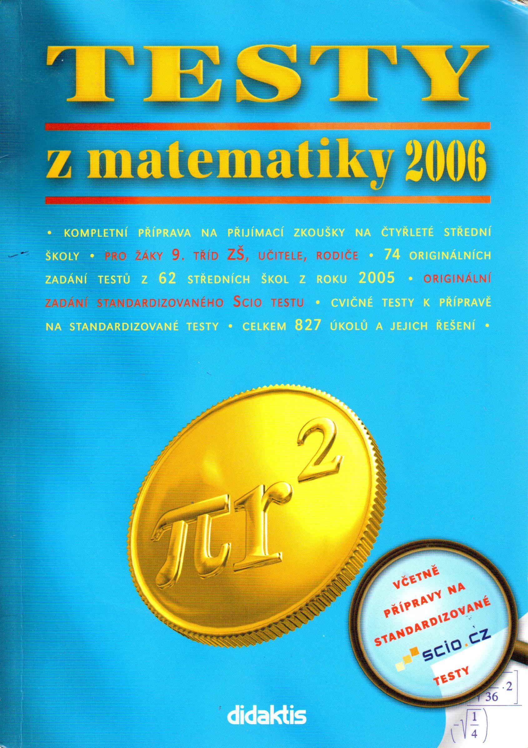 Testy z matematiky 2006 - Náhled učebnice