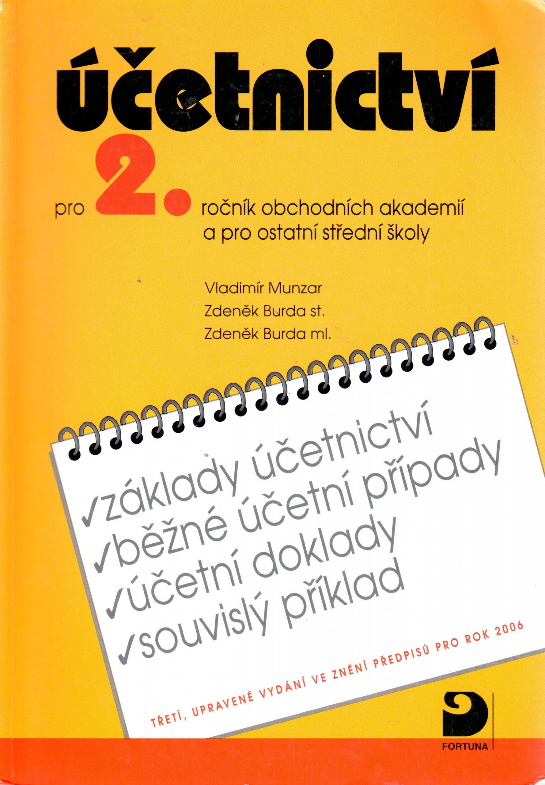 Účetnictví pro 2. ročník obchodních akademií a pro ostatní střední školy (3. vydání) - Náhled učebnice