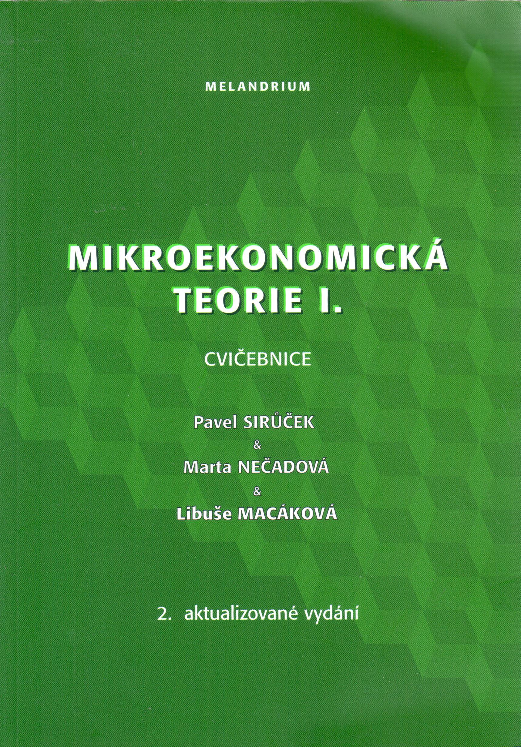 Mikroekonomická teorie I. (cvičebnice) - Náhled učebnice