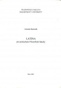 Latina ppro posluchače Filozofické fakulty