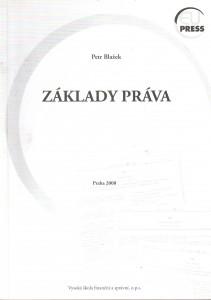 Základy práva : teorie práva a základy ústavního práva České republiky