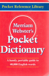 Merriam Websters Pocket Dictionary