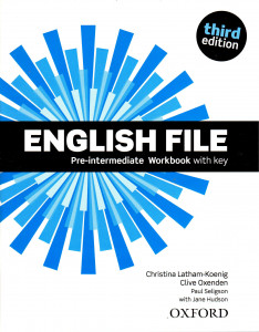 English File: Pre-intermediate Workbook with key (3rd edition)