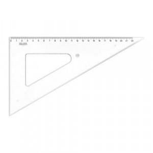 Trojúhelník KOH-I-NOOR transparentní, 22 cm